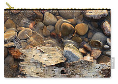 Birch Bark And Ice In The Creek Four  Carry-all Pouch