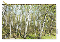 Birch Forest In Spring Carry-all Pouch