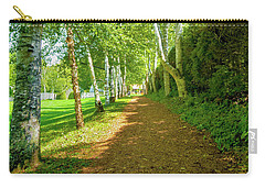 Carry-all Pouch featuring the photograph Birch Gauntlet by Greg Fortier