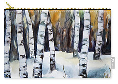 The White Of Winter Birch Carry-all Pouch