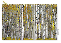 Birch Tree Grove With A Touch Of Yellow Color Carry-all Pouch