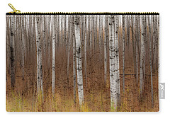 Birch Trees Abstract #2 Carry-all Pouch