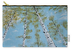 Birch Trees And Sky Carry-all Pouch