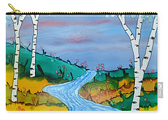 Birch Trees And Stream Carry-all Pouch