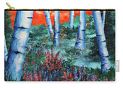 Birch Trees At Sunset Carry-all Pouch