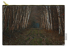 Birches At Blue Hour Carry-all Pouch
