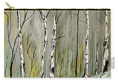 Birches Before Spring Carry-all Pouch