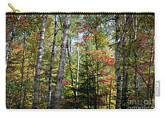 Carry-all Pouch featuring the photograph Birches In Fall Forest by Elena Elisseeva