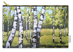 Birches In Spring Mood Carry-all Pouch