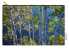 Carry-all Pouch featuring the photograph Birches On Lake Shore by Elena Elisseeva