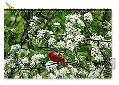Bird And Blossoms Carry-all Pouch