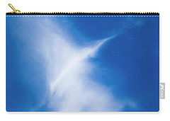 Carry-all Pouch featuring the photograph Bird Cloud by Yulia Kazansky