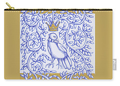 Bird Crown Gold Carry-all Pouch by Donna Huntriss