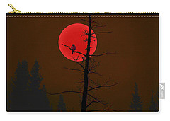 Carry-all Pouch featuring the digital art Bird In A Tree by Stuart Turnbull