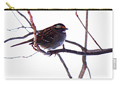 Carry-all Pouch featuring the photograph Bird In A Winter Bush. by Roger Bester