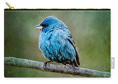 Bird In Blue Indigo Bunting Ginkelmier Inspired Carry-all Pouch