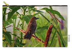 Bird In Cattails Carry-all Pouch