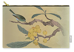Bird In Loquat Tree Carry-all Pouch