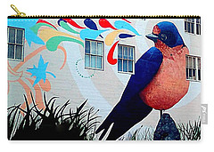 San Francisco Blue Bird Painting Mural In California Carry-all Pouch