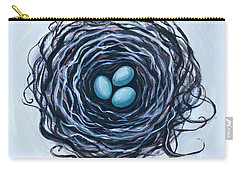 Bird Nest And Eggs Carry-all Pouch by Elizabeth Robinette Tyndall