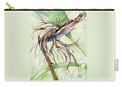 Carry-all Pouch featuring the painting Bird Of Paradise, A Faded Beauty by Nadine Dennis