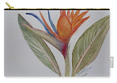 Carry-all Pouch featuring the painting Bird Of Paradise by Donna Walsh