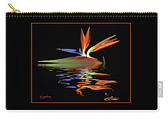 Bird Of Paradise On Water Carry-all Pouch