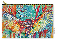 Bird Of Prey The Great Horned Owl Carry-all Pouch