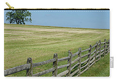 Carry-all Pouch featuring the photograph Bird On A Fence by Donald C Morgan