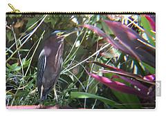 Bird On Bath Carry-all Pouch by Val Oconnor