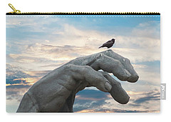 Bird On Hand Carry-all Pouch