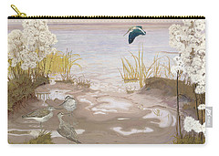 Bird On The Mud Flats Of The Elbe Carry-all Pouch by Friedrich Lissmann