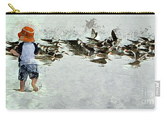 Carry-all Pouch featuring the photograph Bird Play by Claire Bull
