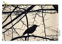 Bird Silhouette Carry-all Pouch by Sarah Loft