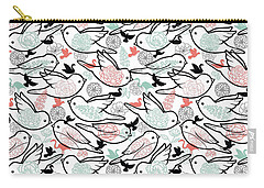 Bird Solid Carry-all Pouch by Elizabeth Taylor