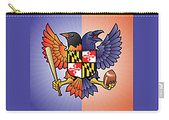Birdland Baltimore Raven And Oriole Maryland Crest Carry-all Pouch
