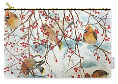 Birds And Berries Carry-all Pouch