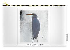 Birds And Fun At Butler Park Austin - Birds 2 Macro Poster Carry-all Pouch by Felipe Adan Lerma