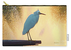 Birds And Fun At Butler Park Austin - Birds 3 Detail Macro Carry-all Pouch by Felipe Adan Lerma