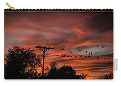 Birds And Sunset Carry-all Pouch