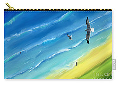 Bird's-eye Above Sea Carry-all Pouch