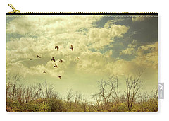 Birds Flying Over A River Carry-all Pouch by Jill Battaglia