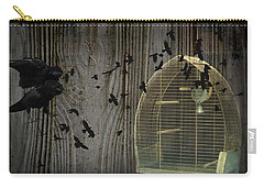 Birds Gone Wild Carry-all Pouch by Suzanne Powers