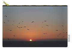 Birds In Sunset Carry-all Pouch