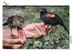 Carry-all Pouch featuring the photograph Birds In The Hands by Jennie Breeze