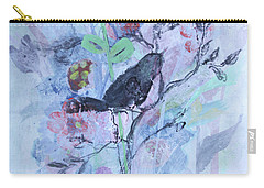 Carry-all Pouch featuring the painting Birds Just Wanna Have Fun by Robin Maria Pedrero
