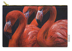 Carry-all Pouch featuring the painting Birds Of A Feather by Billie Colson