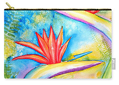 Birds Of Paradise Carry-all Pouch by Carlin Blahnik