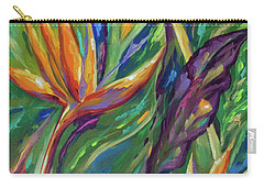 Carry-all Pouch featuring the painting Birds Of Paradise by Linda Olsen