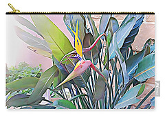 Carry-all Pouch featuring the mixed media Birds Of Paradise  by Lucia Sirna